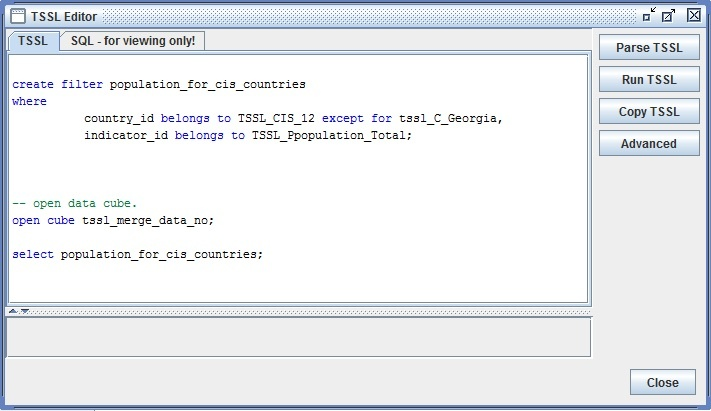 Coding in TSSL - PC-Axis - UNECE Statistics Wikis